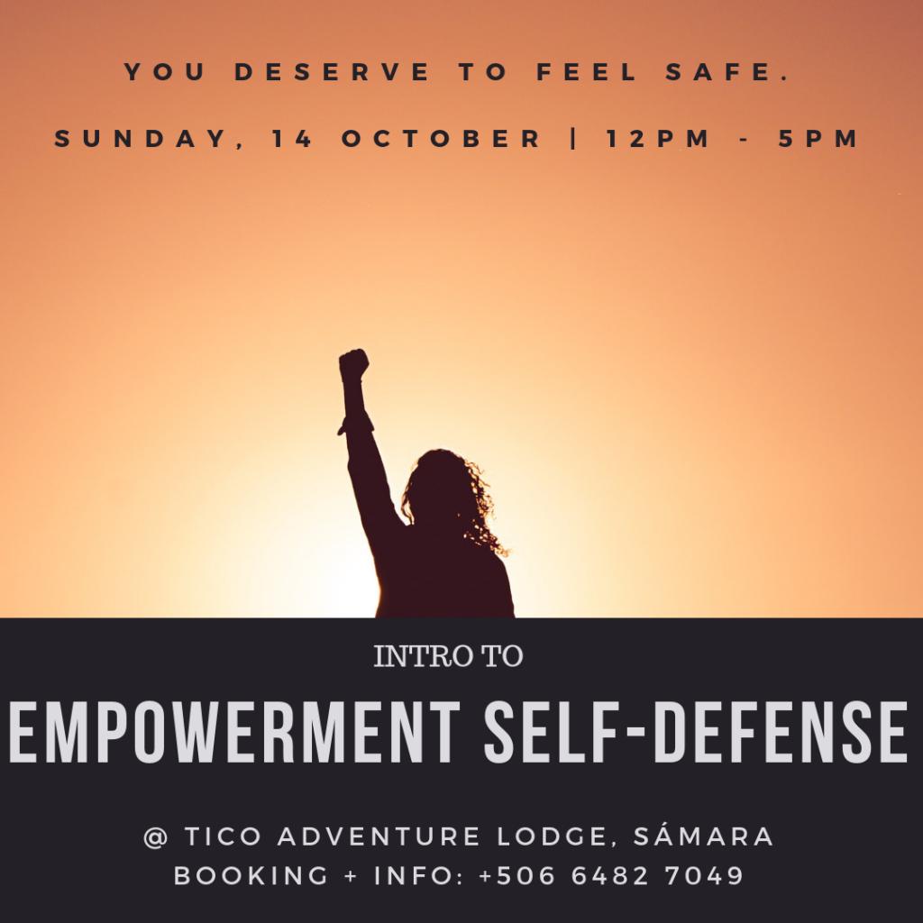 empowerment self-defense, samara, costa rica, toby israel