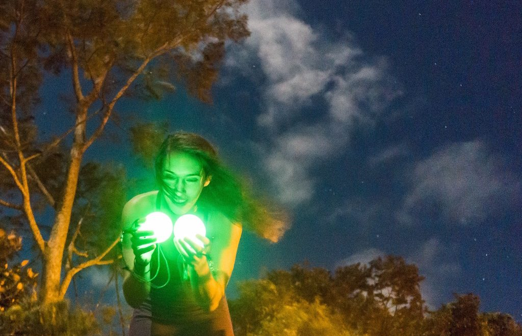 microadventure, fire spinning, costa rica